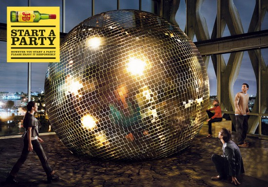 Mirror ball in the city