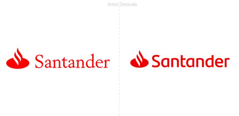Banco santander redise a su logotipo creado por interbrand for Banco santander abierto sabado madrid