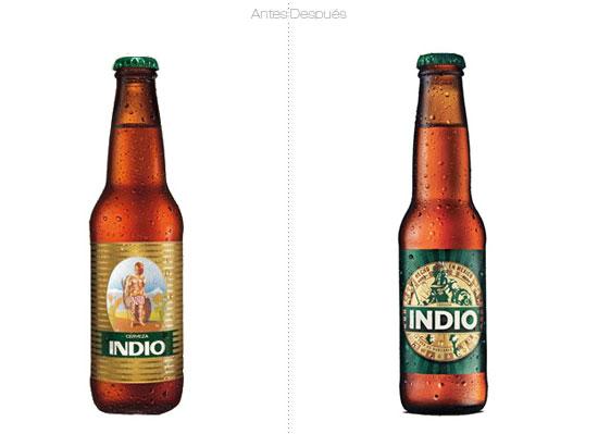 Cerveza Indio: Rediseño