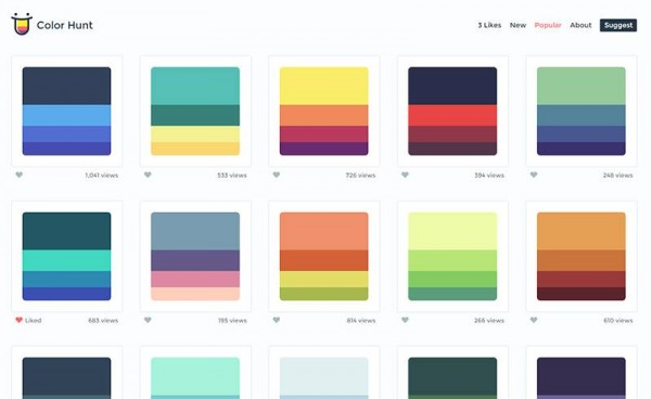 Color hunt un sitio web para crear paletas de colores - Colores que combinan con wengue ...