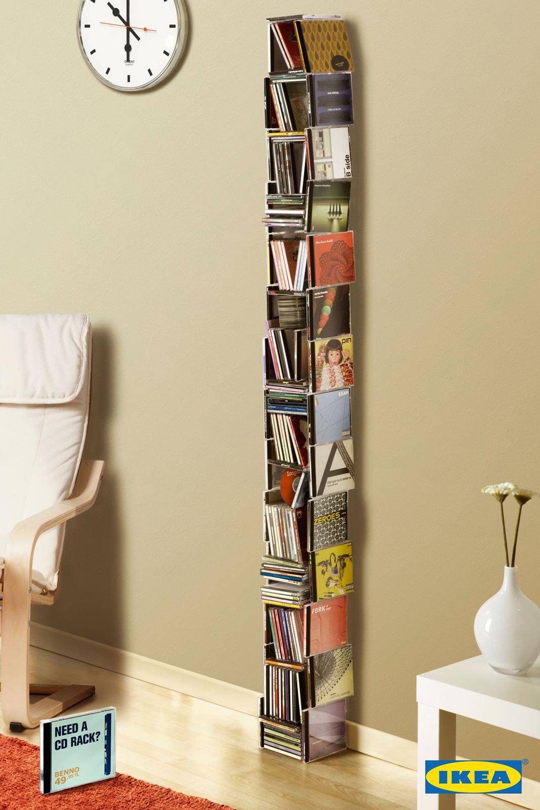 Ikea: estantería Cd, Dvd, Libros