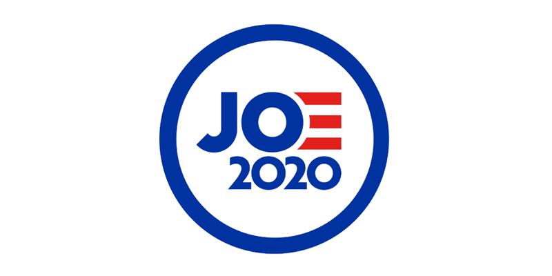 Joe Biden candidato presidencial 2020 presenta su ilegible logotipo