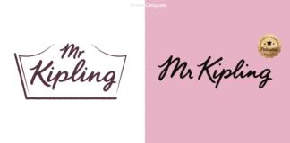 Mr Kipling una marca de pasteles del Reino Unido, nueva identidad.