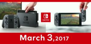 Nintendo Switch saldrá el 3 de marzo y anuncia precio, características y videojuegos