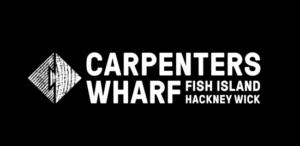 Identidad del edificio Carpenters Wharf en Fish Island Inglaterra