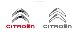 La famosa marca de autos francesa Citroën presenta un logo simplificado