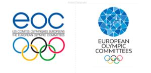 Los Comités Olímpicos Europeos presentan un nuevo logo estilo mosaico