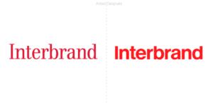 Una tipografía Helvética en negrita es el nuevo logo de Interbrand