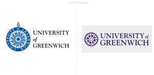 La Universidad de Greenwich en Inglaterra simplifica la brújula de su logo
