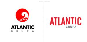 Atlantic Grupa una curva en forma de ese forma su wordmark