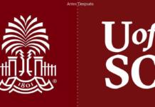La Universidad de Carolina del sur, UofSC, no logra contentar a todos con su nuevo logotipo.