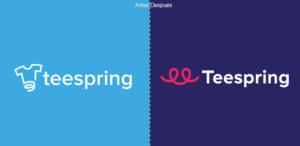 Teespring: Nuevo logo e identidad para la plataforma de personalización de prendas
