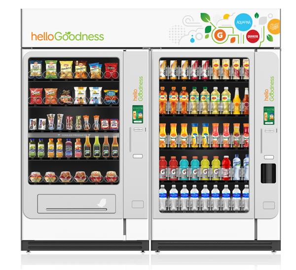 Pepsico hello goodness m quinas expendedoras con productos saludables - Maquinas expendedoras de alimentos y bebidas ...