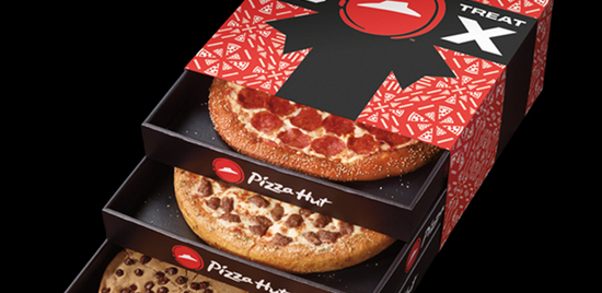 Pizza hut triple treat box empaque navide o para tres pizzas for Oficinas de pizza hut