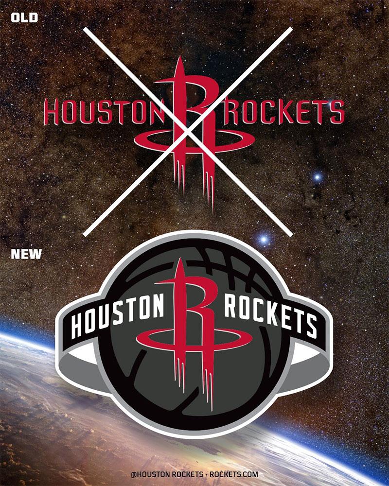 NBA: Nuevo logotipo global para los rockets de Houston
