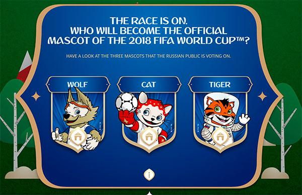 La mascota del mundial de Rusia 2018 será un tigre, lobo ...