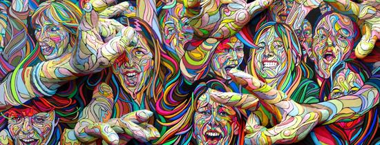 Shaka murales tridimensionales - Murales pintados en la pared ...