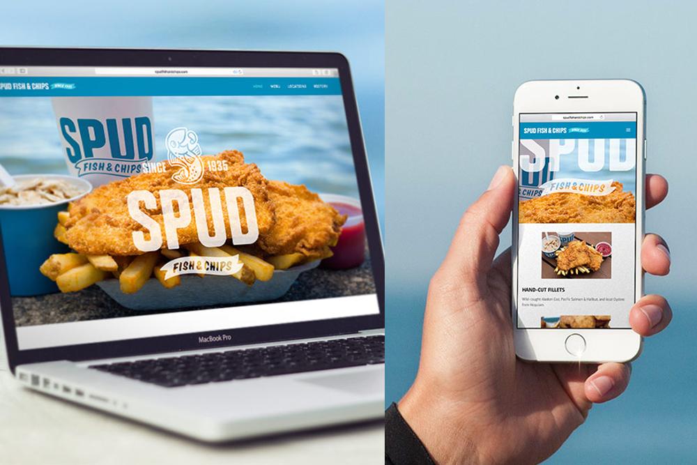 Nuevo logo e identidad de spud fish chips creada por la for Spuds fish and chips