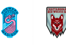 Dos nuevos equipos USL 1: Forward Madison FC y Chattanooga Red Wolves SC.
